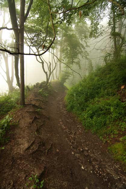 Cesta z Luky pod hradom v hmle, Sulovske vrchy