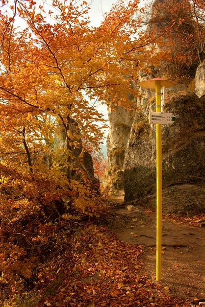 Rozcestník na Súľovskom hrade