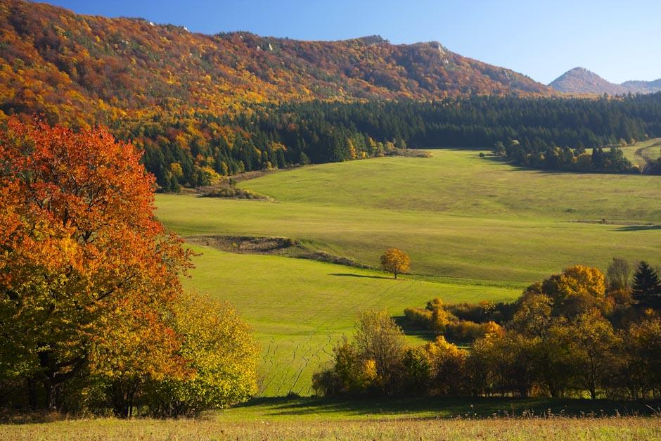 Sulovske vrchy oktober farby