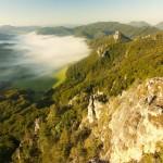 Sulovske skaly Stefanikova vyhliadka hmla inverzia