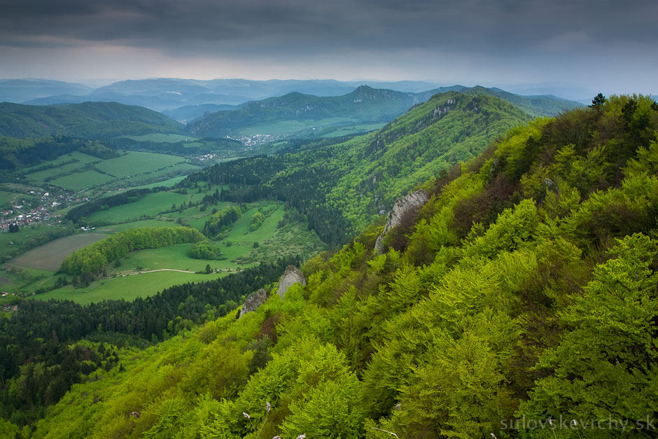 Hrebeň do Roháčskeho sedla, Súľovské vrchy
