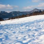 Súľovské skaly cestou do sedla Patúch v zime